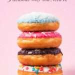 Stack of donuts on pink background - Tasty Pins Plugin - 5 Reasons Why You Need it!
