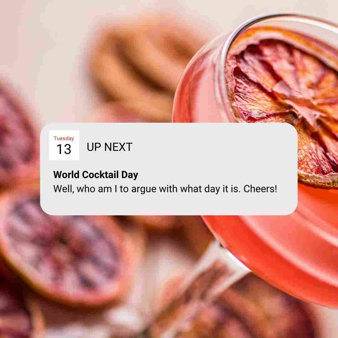 World Cocktail Day Template - Check out these 60+ May Social Media Ideas - Images, Videos, GIFs and more!