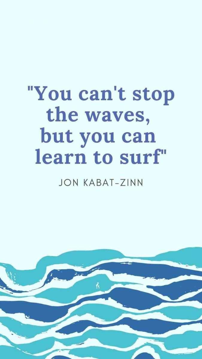 Waves Ocean Canva Template -60+ June Social Media Ideas + Canva Templates