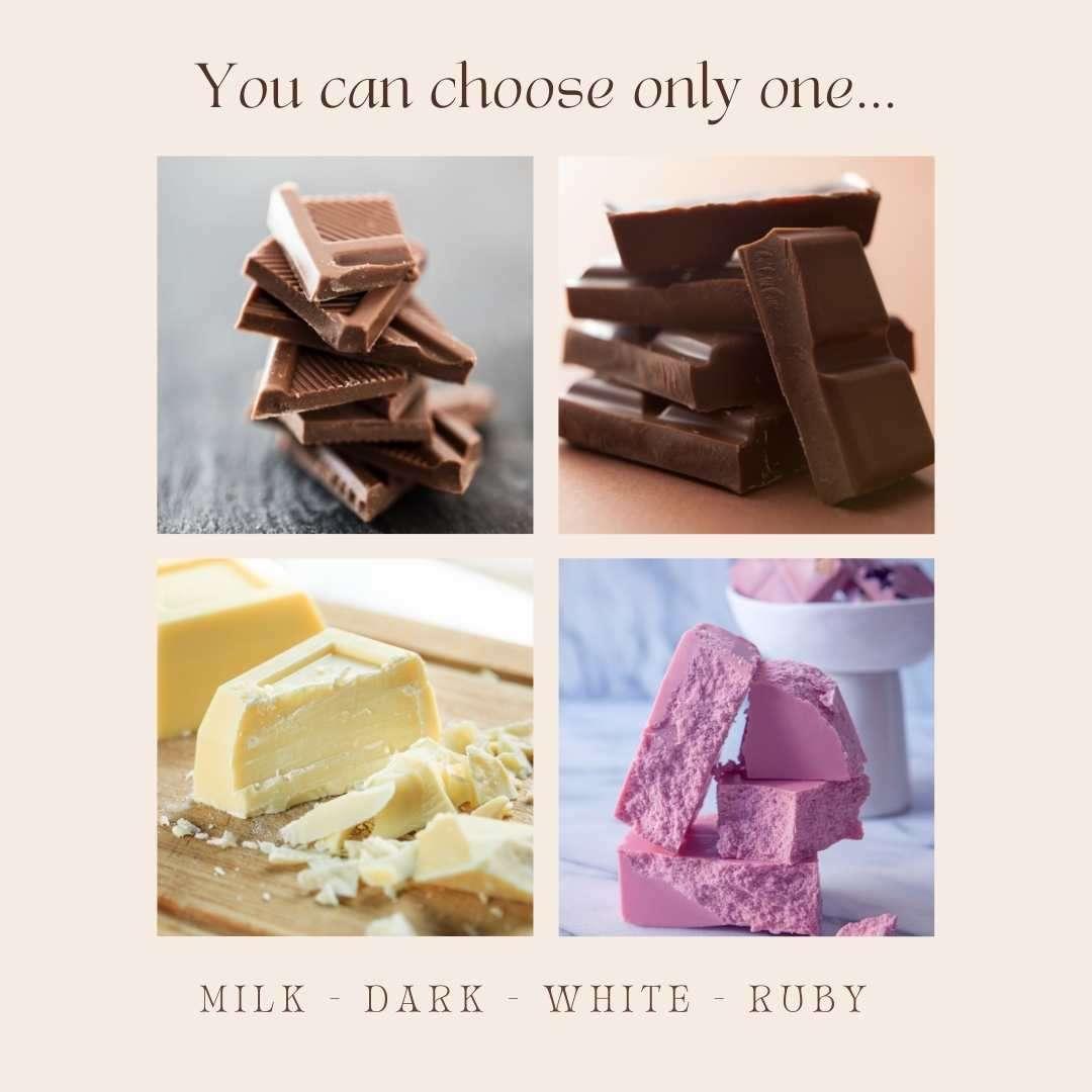 Milk Dark White Ruby Chocolate Canva Quiz Template by Socially Sorted - 60+ September Social Media Ideas