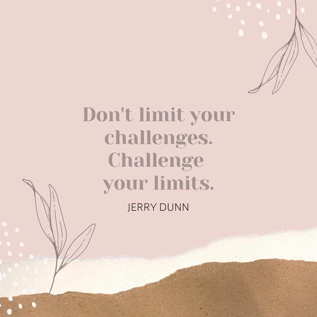 Pink Challenges Quote Canva Template by Socially Sorted - 60+ September Social Media Ideas