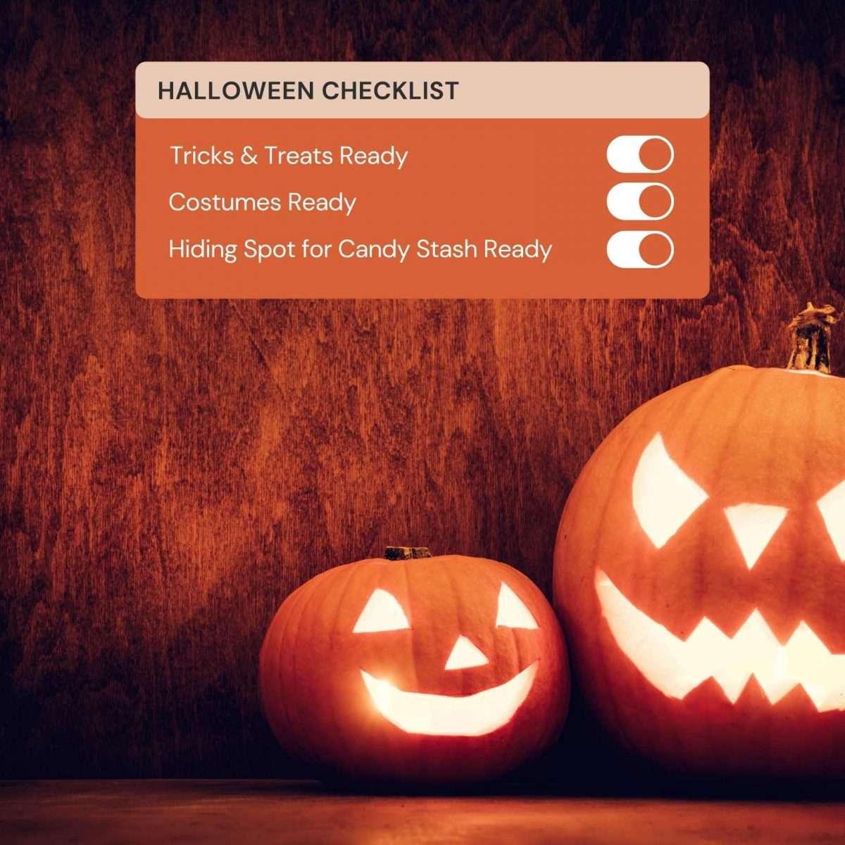 Halloween Checklist Canva Template - Editable Canva Template by Socially Sorted