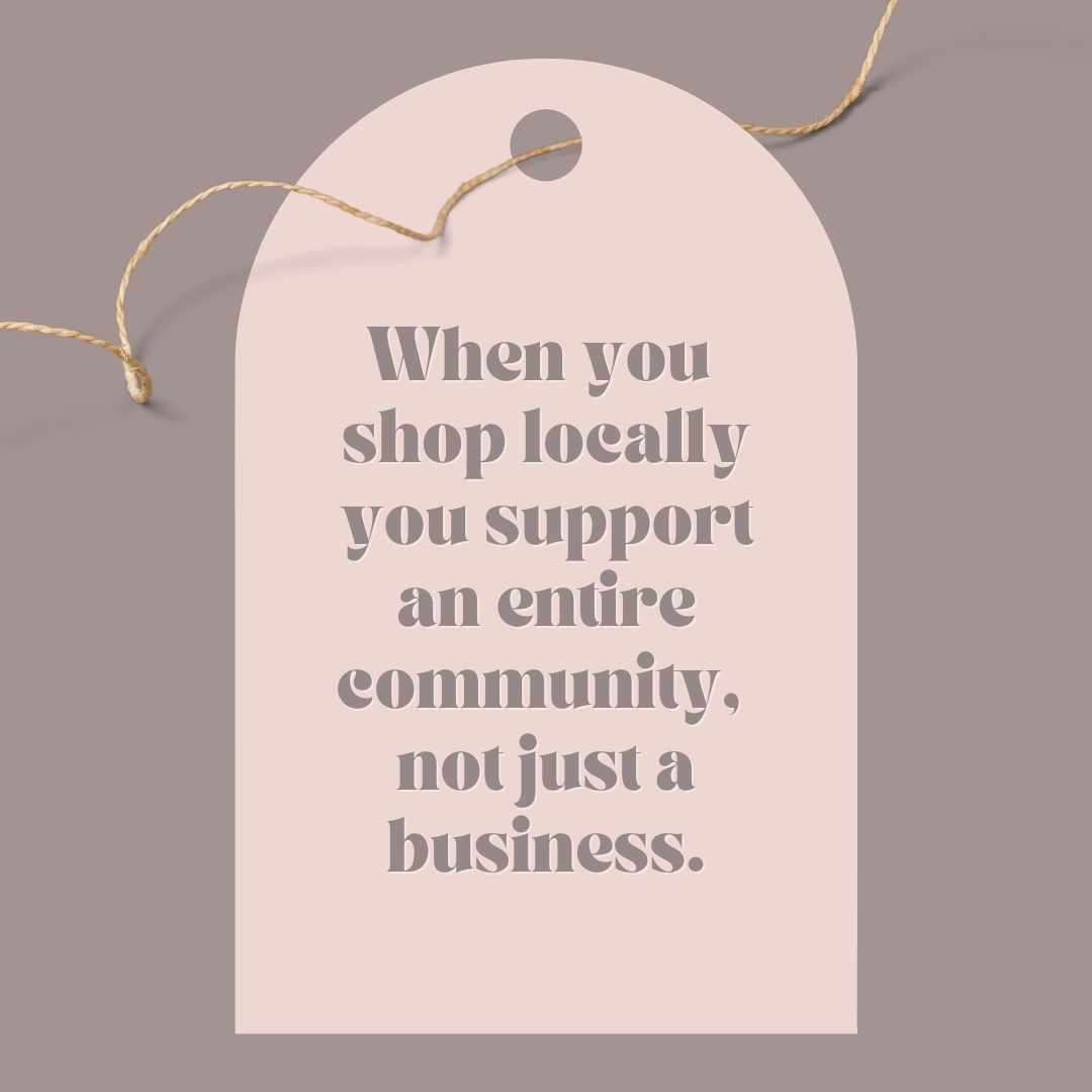 Shop Locally Hang Tag Canva Template by Socially Sorted- November Social Media Ideas