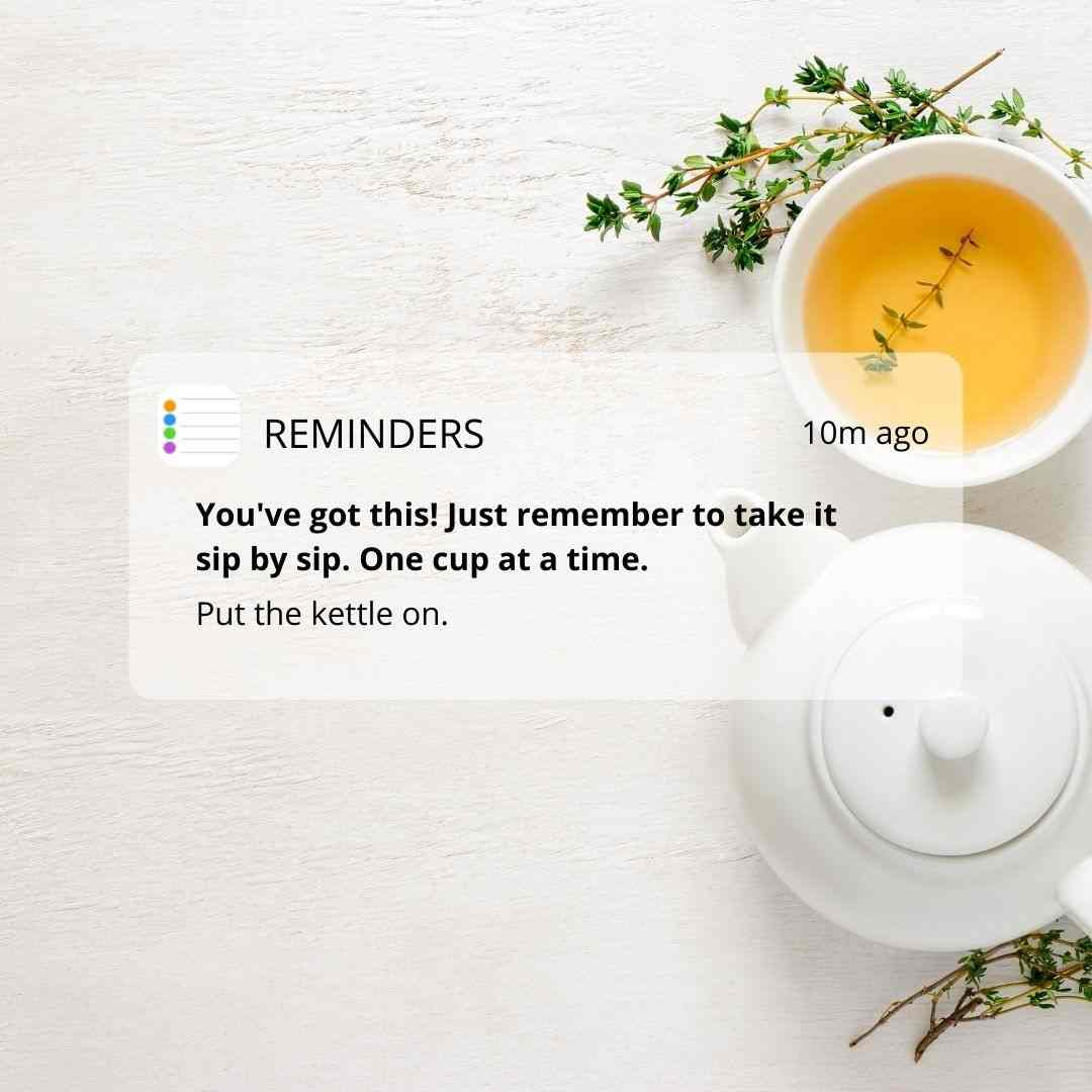 Tea Time Calendar Message and Reminder Template in blog post: Easy Reminder Posts + Canva Templates