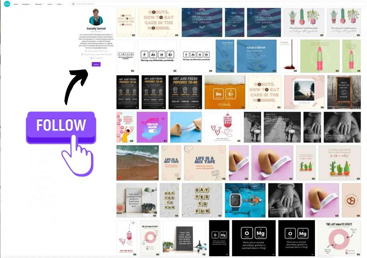 Canva Creator, Socially Sorted - template designer for the Canva Marketplace