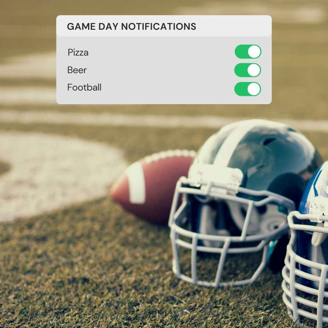 Game Day Football Template - Message Reminder Post Template in blog post: Easy Message Reminder Posts + Canva Templates