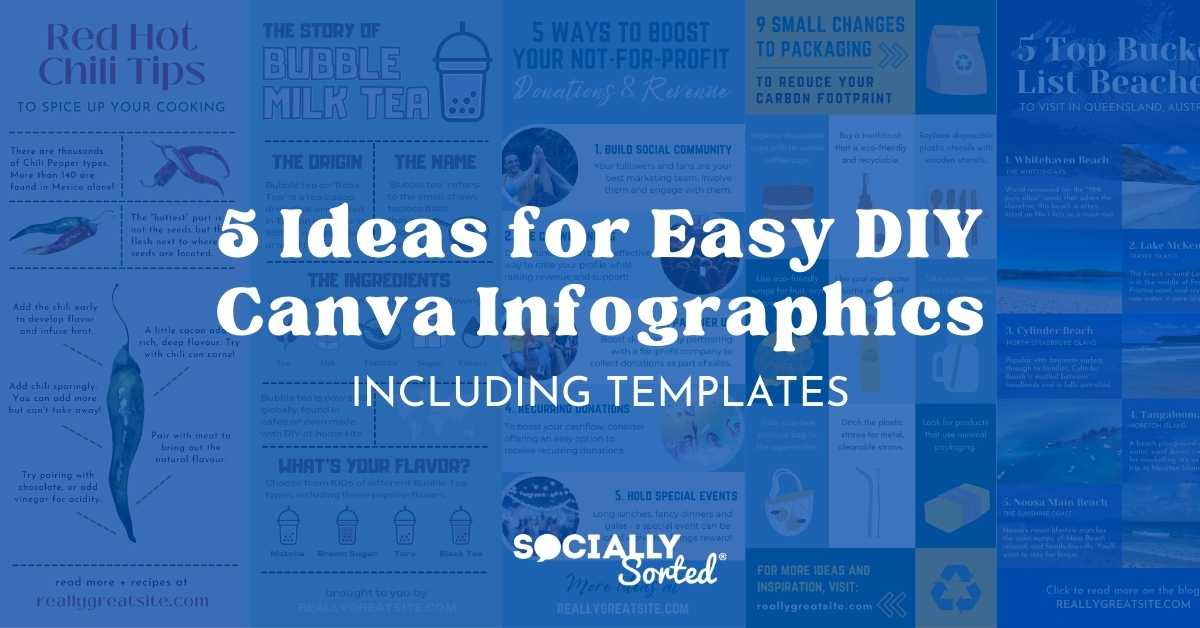 5 Ideas for Easy DIY Canva Infographics (including templates)