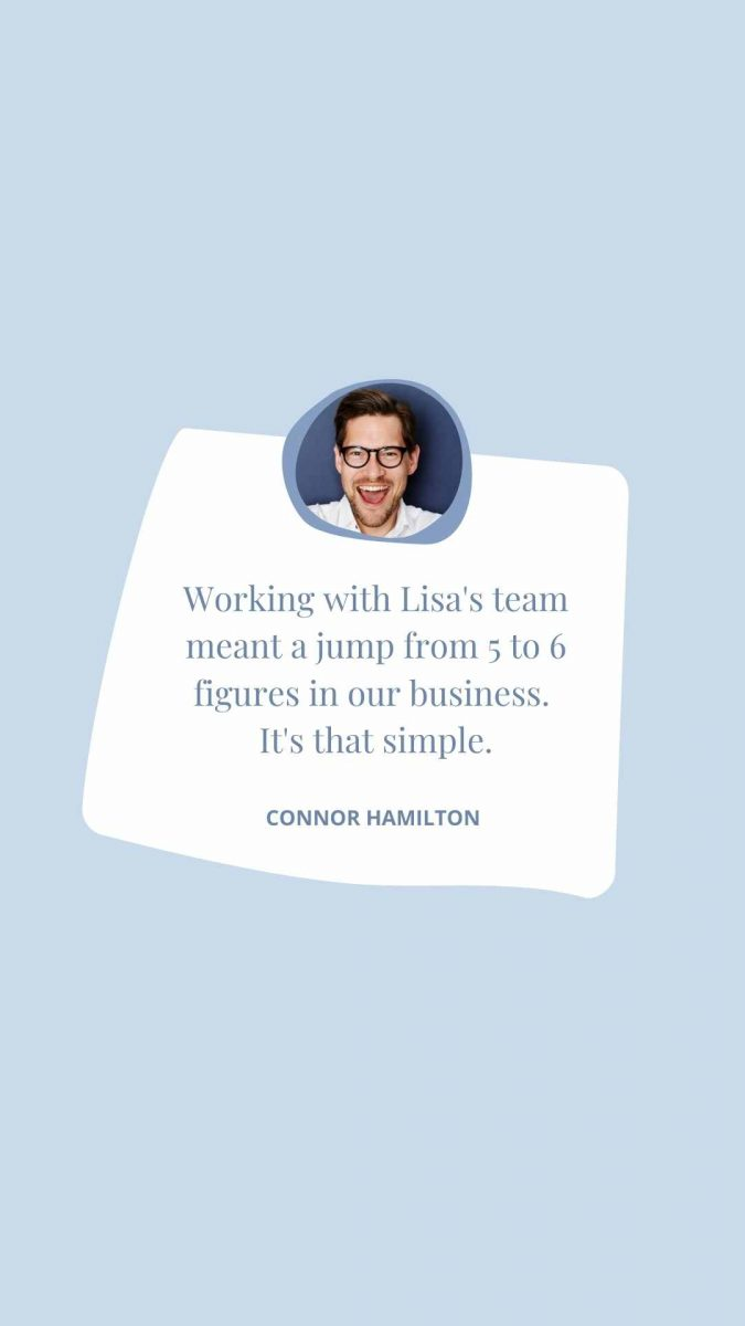 Blue Photo Testimonial Instagram Story Canva Template by Socially Sorted