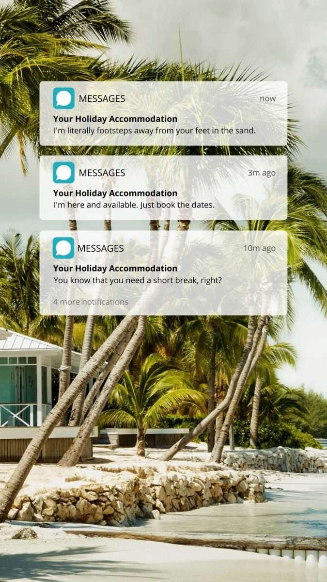 Holiday Accommodation Message Canva Template by Socially Sorted